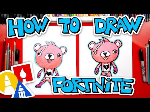 How To Draw Cuddle Team Leader Fortnite Skin + Challenge Time