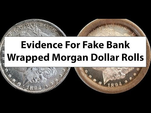 FAKE Morgan Dollar Bank Wrapped Rolls Ebay And Online