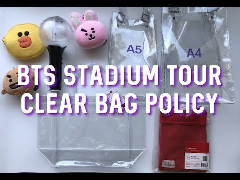 [CC] BTS STADIUM - CLEAR BAG POLICY / RULES - SPEAK YOURSELF ROSE BOWL