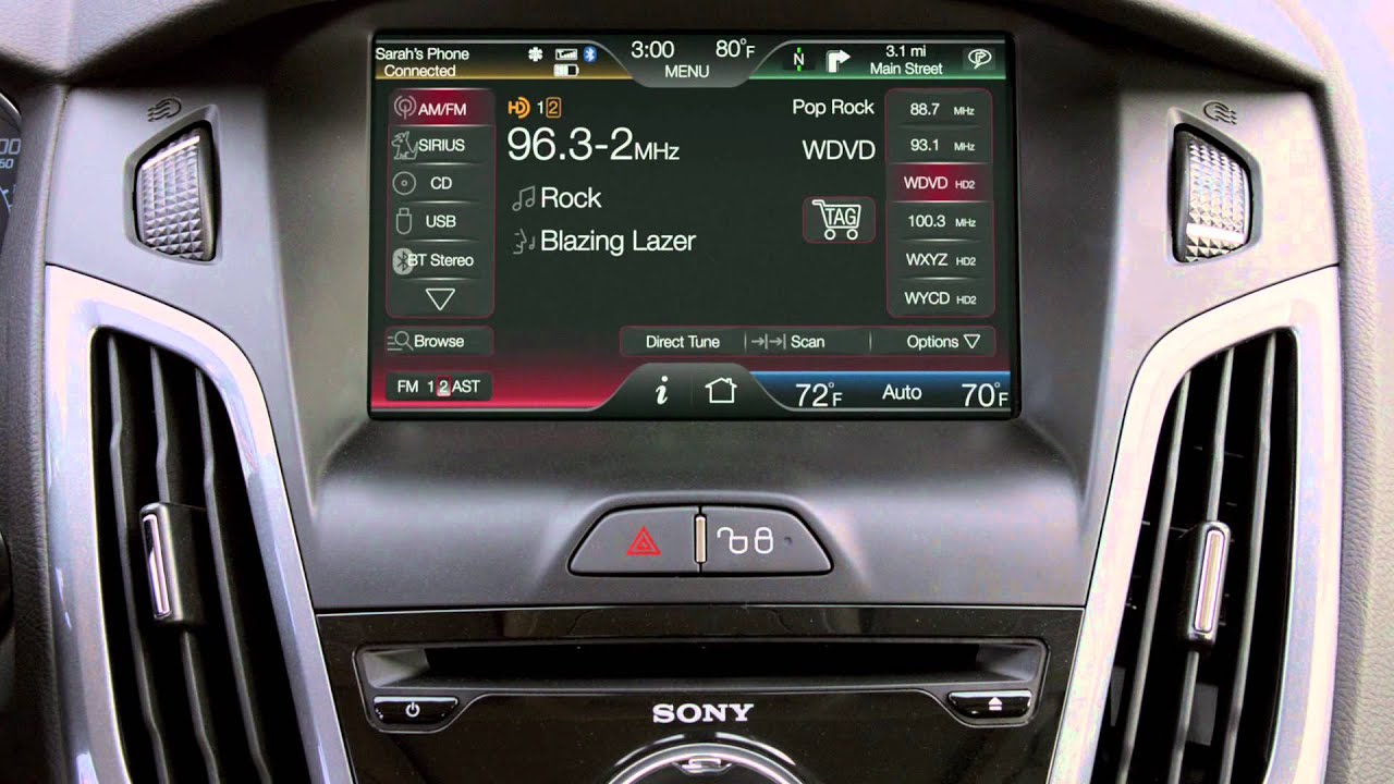 2012 ford focus hd radio with itunes tagging youtube. Black Bedroom Furniture Sets. Home Design Ideas