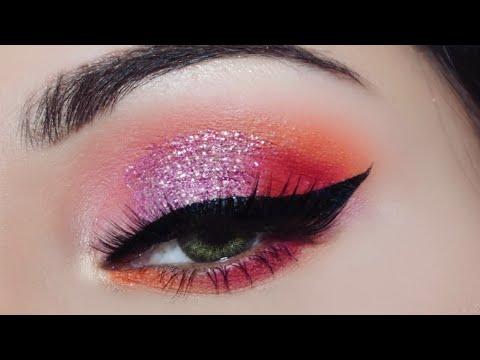 प्रेस्ड ग्लिटर आई मेकअप कैसे करें Beginners Pressed Glitter Amazon Eyeshadow Quick Eye Makeup