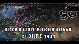 HOI4 - Operation Barbarossa 21 June 1941