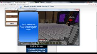 Repeat youtube video Minecraft Un-banning Tool - Unban yourself from any server!