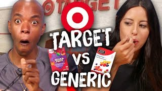 Target Brand vs Generic Food Taste Test (Cheat Day)