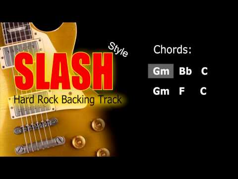 Hard Rock Slash Style Guitar Backing Track 89 Bpm Highest Quality