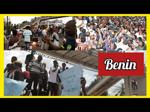 JUST IN: WATCH AS #ENDSARS PROTESTS IN BENIN GROWING BIGGER THAN EXPECTED AS RESIDENTS TROOP OUT