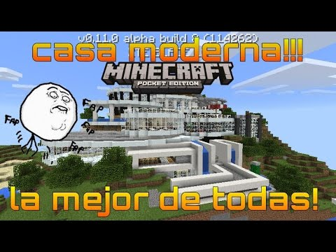 La mejor casa moderna minecraft pe y for Casa moderna minecraft 0 11 1