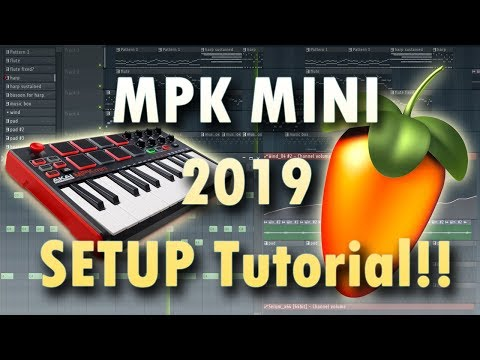 How to set up Your MPK MINI with FL Studio, 2019!