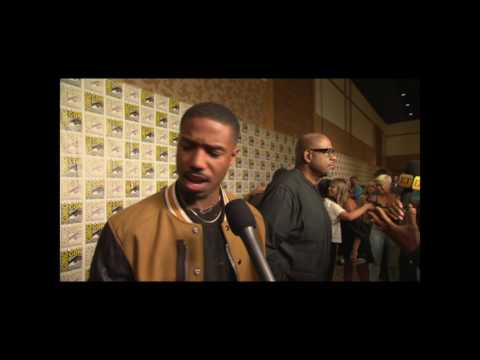 Michael B Jordan Interview On Black Panther Trailer and San Diego Comic Con Hall H Reaction #SDCC