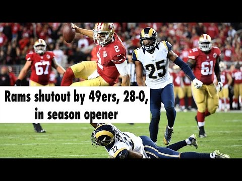 The 49ers shutout the Rams, 28-0, in season opener