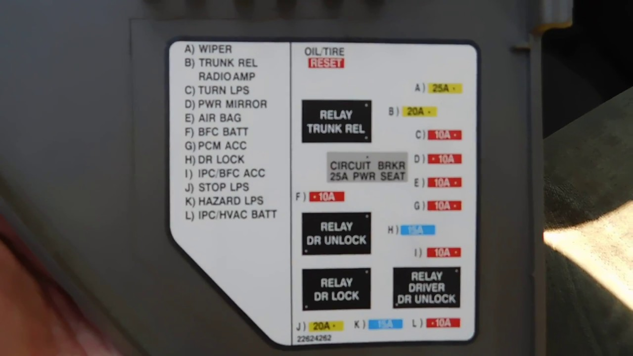 Alero Fuse Box Diagram