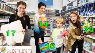 I'll Buy Anything In Your Age Aisle Shopping Challenge I That YouTub3 Family The Adventurers