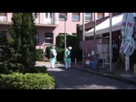 Drive-through virus testing in Zagreb