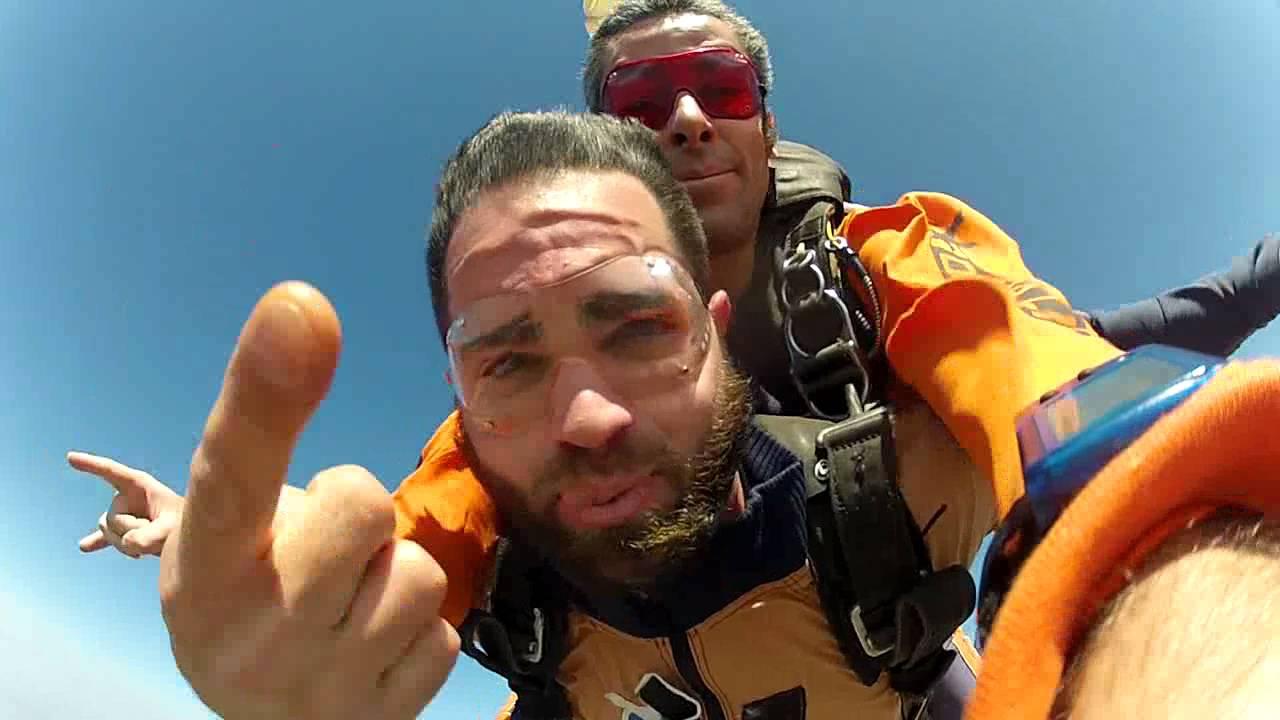 Salto de Paraqueda do Victor na Queda Livre Paraquedismo 30 07 2016