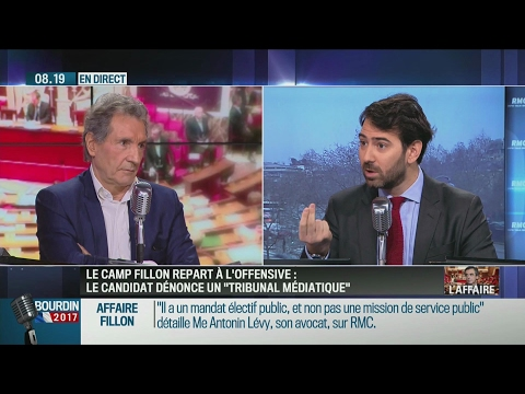 Interview d'Antonin Lévy, avocat de François Fillon, face à Bourdin (RMC, 10/02/17, 8h)