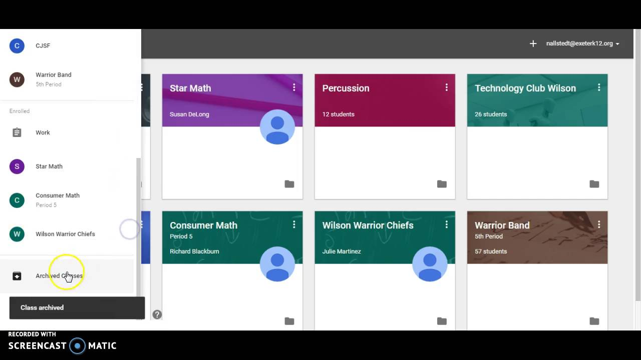 Innovative Features Of Google Classroom ~ How to delete a class from google classroom youtube