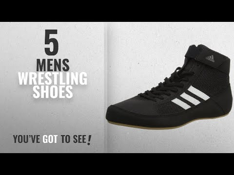 Top 10 Mens Wrestling Shoes [2018]: Adidas Unisex Adults AQ3325 Wrestling Shoes, Black (Black), 9.5