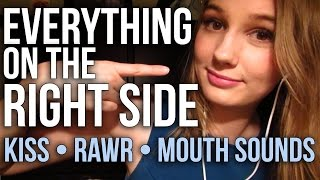 [ASMR] Everything on the Right Side! (kiss, crinkling, rawr, m…