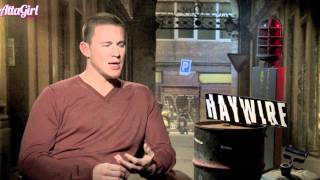 Haywire Channing Tatum interview on co-star Gina Carano & Marriage