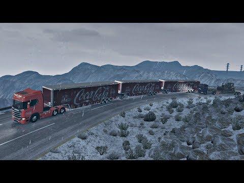 La Rumorosa Nevada vs Tres Remolques + Nuevo Scania R 730hp
