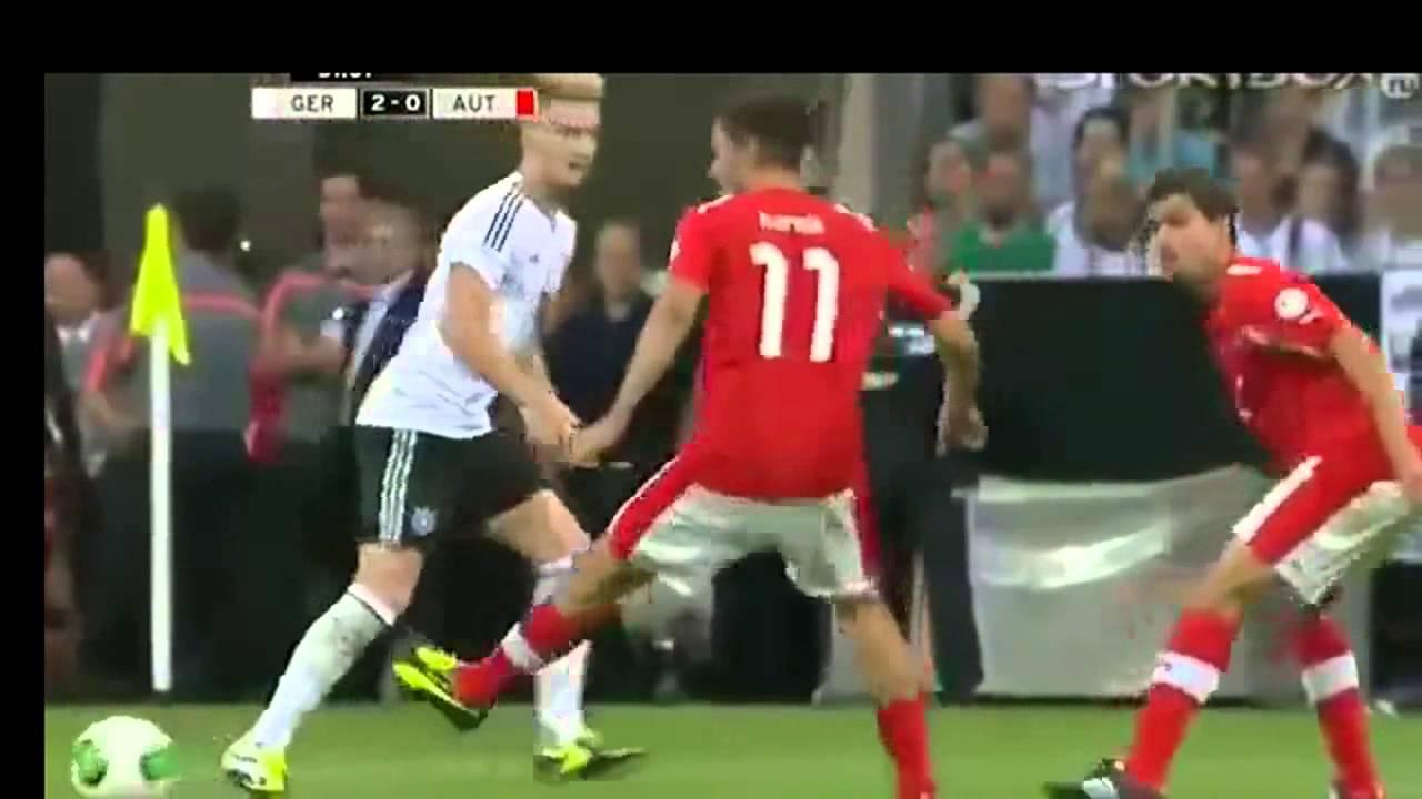 Гемания австрия видео футбол