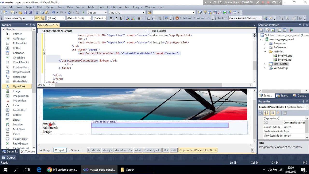 how to add menu in asp net master page