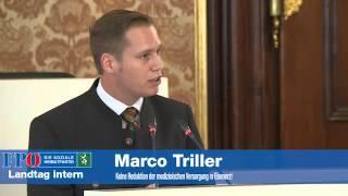 Marco Triller -  Keine Reduktion der medizinischen Versorgung in Eisenerz!
