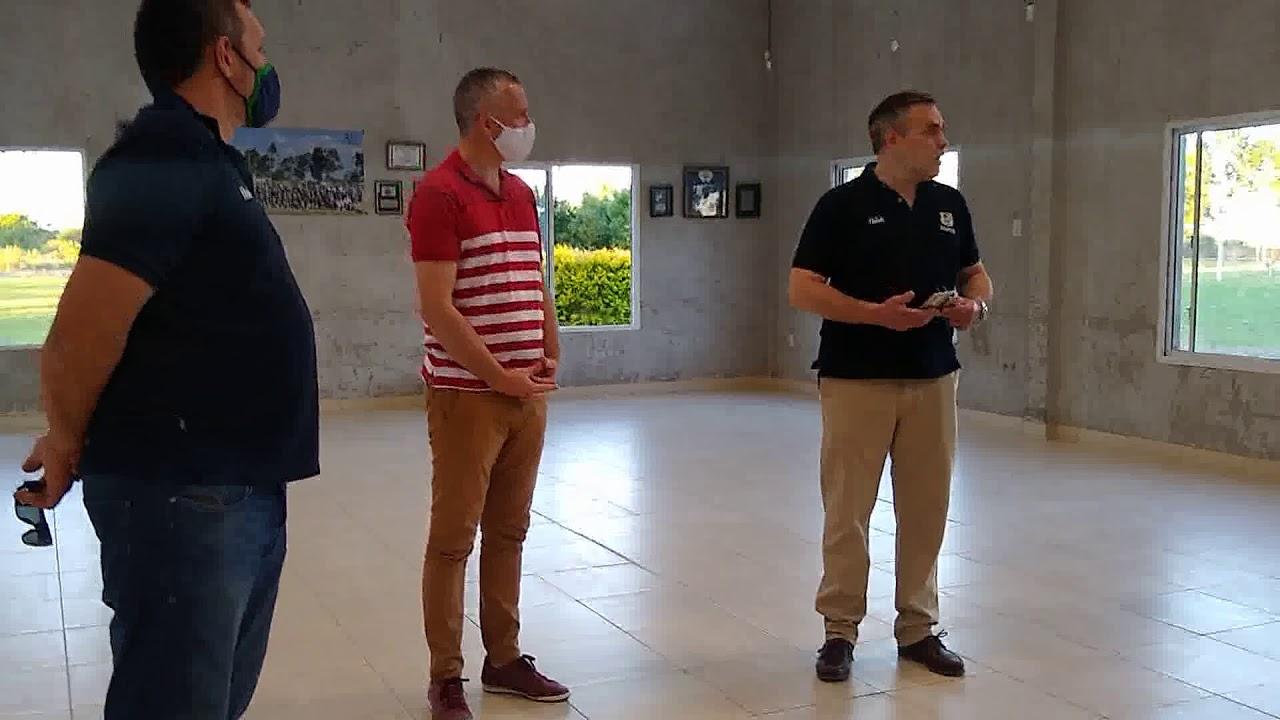 De Biasi: Inauguraron sanitarios en el San Carlos Rugby Club