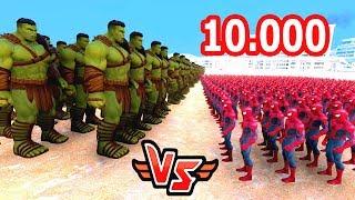10.000 HULK VS 10.000 ÖRÜMCEK ADAM 😱 - Süper Kahramanlar