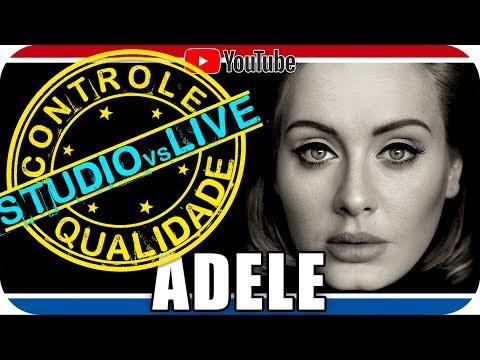 ADELE Studio vs Live CONTROLE DE QUALIDADE - Reagindo React Reação Pop Soul R&B