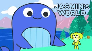 Jasmin's World - Learn and Sing with Kelly the blue whale & Jasmin *Cartoon for kids*