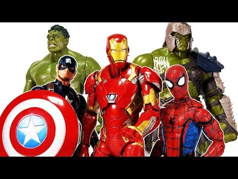 Avengers Spider Man, Iron man , Hulk, Captain America vs Vulture Battle Toys Play.
