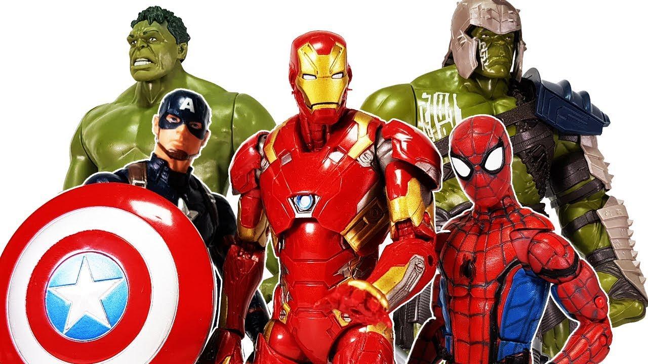 Avengers Spider Man, Iron man , Hulk, Captain America vs ...