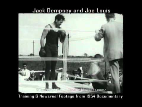 Jack Dempsey & Joe Louis Newsreel and Training Footage