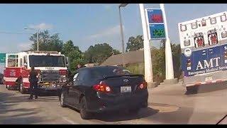 Corolla wreck on Adams Street in Peoria.
