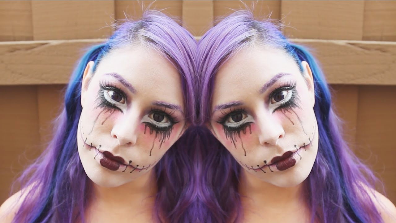 Scary doll halloween makeup