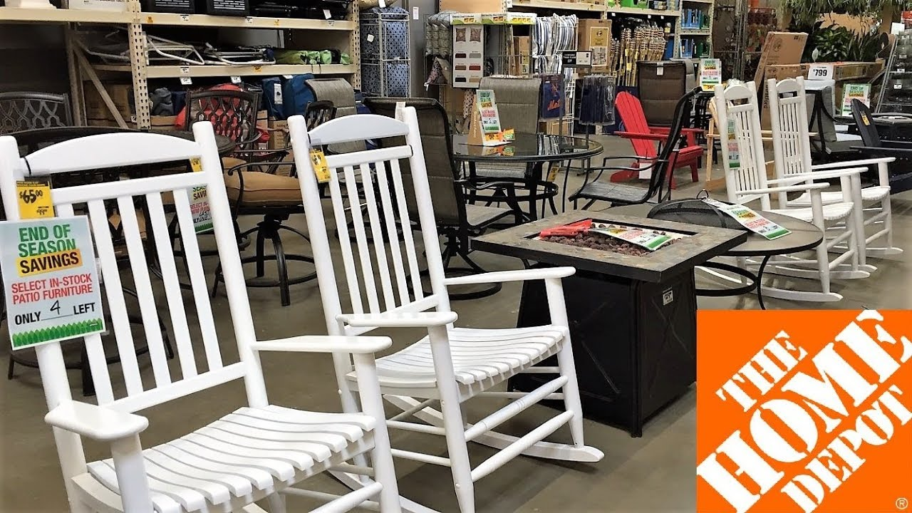 home depot patio furniture outdoor home decor clearance shop with me shopping store walk thorugh