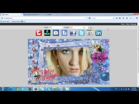 Create a christmas card with your picture online on libable.com