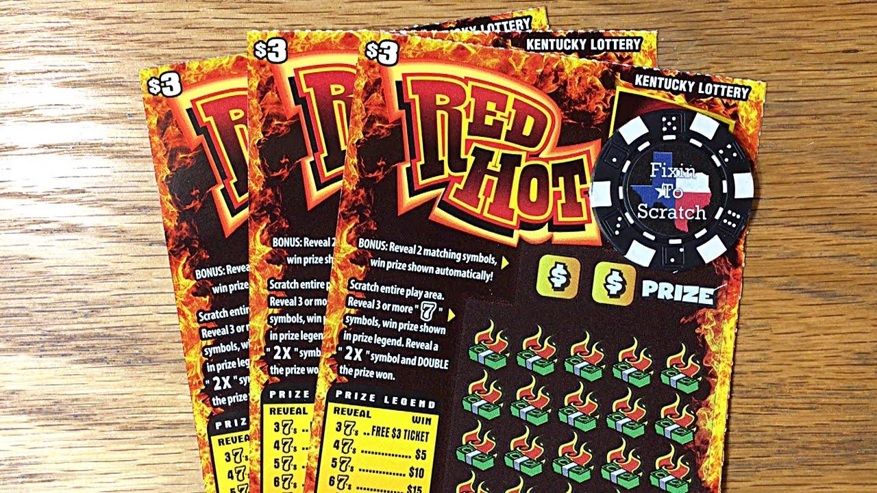 3X Red Hot 7's - Kentucky Lottery Scratch Offs