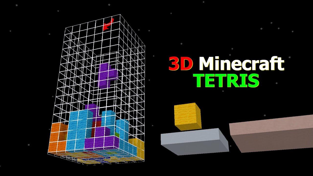 Tetris 3D in Minecraft
