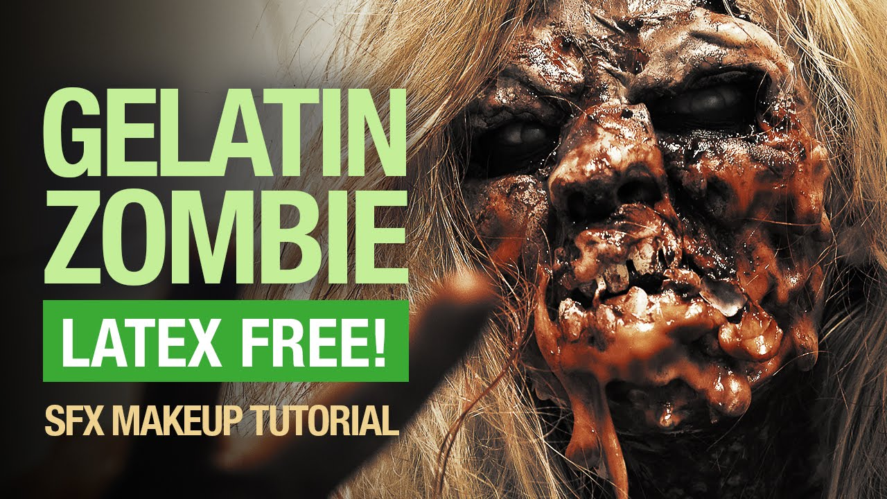 How to make zombie makeup with gelatin