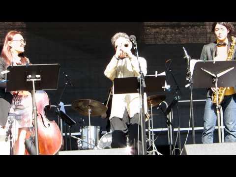Tiger Okoshi with Berklee Ensemble live in Copley Square, Boston, MA