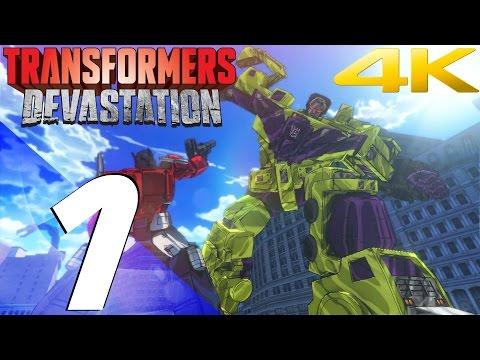 Transformers Devastation - Walkthrough Part 1 - Devastator Boss & Megatron Boss [4K 60fps]