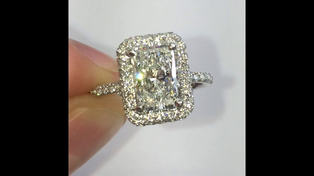 ct youtube ring diamond radiant watch rings custom cut engagement