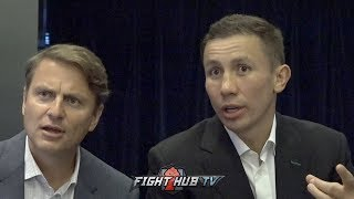 GENNADY GOLOVKIN ANNOYED AT REPORTERS OVER CANELO QUESTION