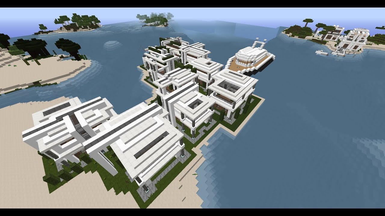 Minecraft tuto construction maison modern ep 1 for Minecraft construction maison moderne