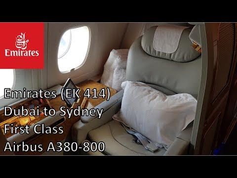 Emirates First Class – Dubai to Sydney (EK 414) – Airbus A380-800
