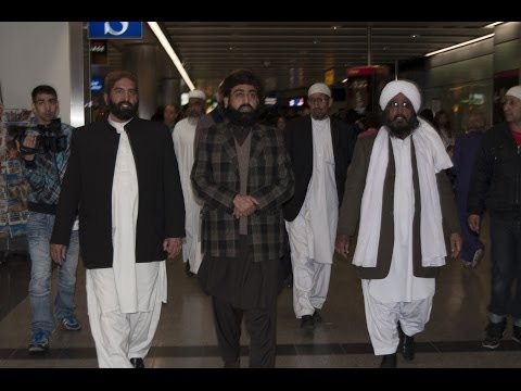 Departure of Pir Sahiban of Golra Sharif from Heathrow Airport 30-03-2014