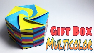 MULTI COLOR GIFT BOX PAPER CRAFTS TUTORIAL