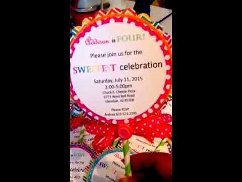 Lollipop birthday party invitations youtube lollipop birthday party invitations filmwisefo